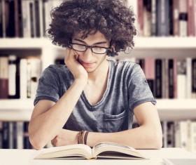 Young people reading Stock Photo