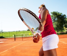 Young woman playing tennis HD picture 01