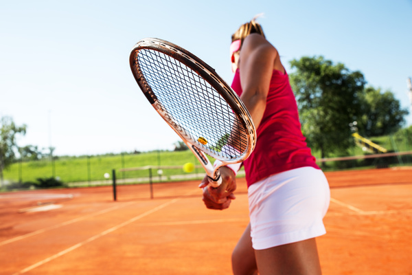 Young Woman Playing Tennis Hd Picture 01 Free Download