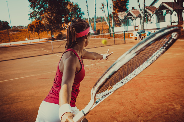 Young Woman Playing Tennis Hd Picture 02 Free Download