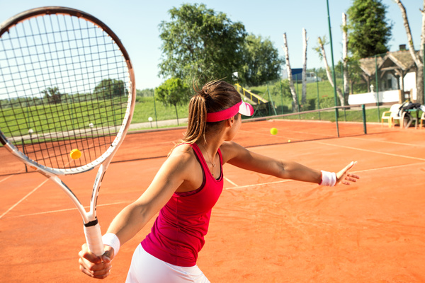 Young Woman Playing Tennis Hd Picture 07 Free Download