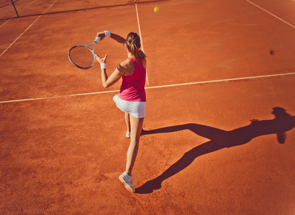 Young Woman Playing Tennis Hd Picture 08 Free Download