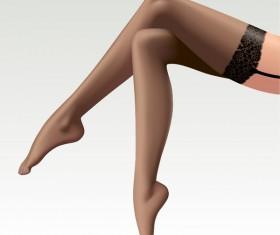 beautiful female legs vector material 03