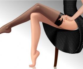 beautiful female legs vector material 05