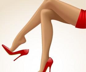 beautiful female legs vector material 06