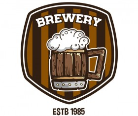 beer label and brewery emblem vector
