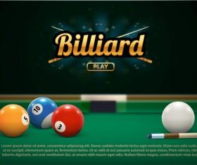 billiard play theme background vectors 01