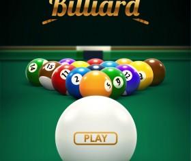 billiard play theme background vectors 03