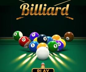 billiard play theme background vectors 04
