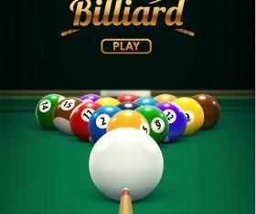 billiard play theme background vectors 05
