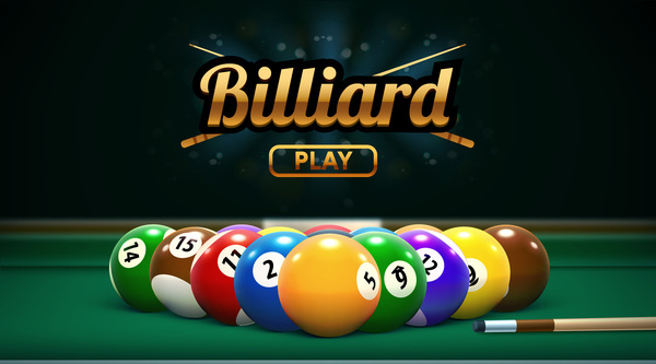 billiard play theme background vectors 06