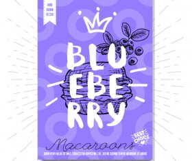 blueberry poster template vector