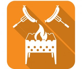 brazier roast sausage icon