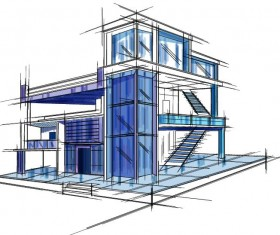 Architecture Sketch and Blueprint Photoshop Action by