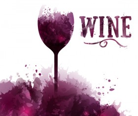 card wine text english vector
