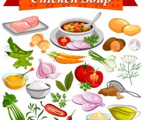 chicken soup vector