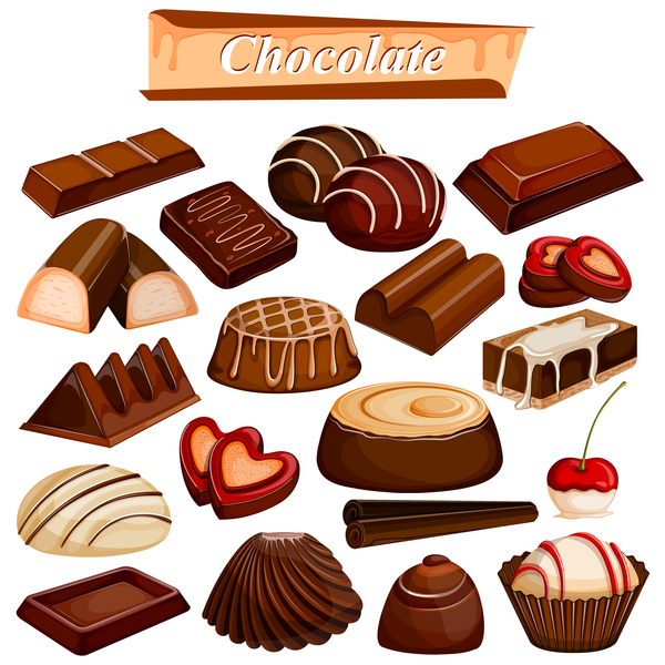 chocolate food vector material