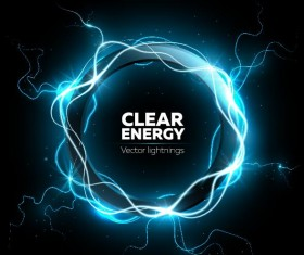 clear energy vector lightnings background