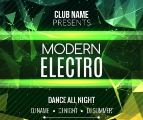 club music party flyer vectors 04