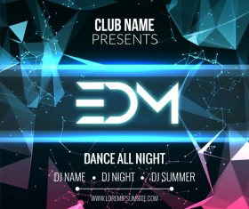 club music party flyer vectors 05