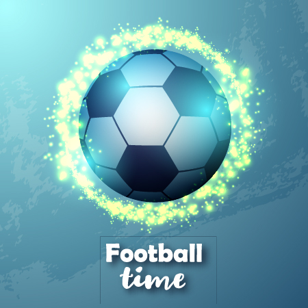 foodball with blue background vector