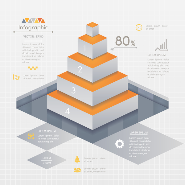 ladder business infographic vector template 02
