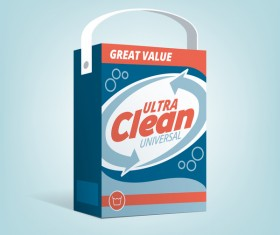 laundry detergent poster vector template