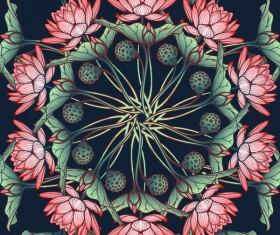 lilies flower seamless pattern vector 03