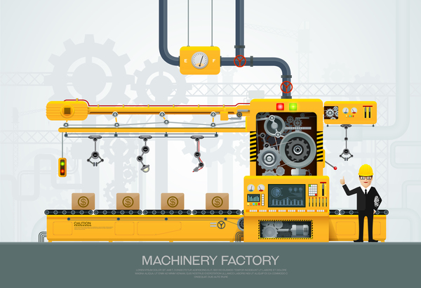 machine and factory business template vector 04machine and factory business template vector 04