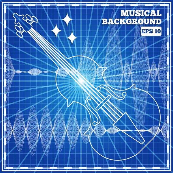 musical with mesh pattern abstract vector 01