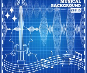 musical with mesh pattern abstract vector 02