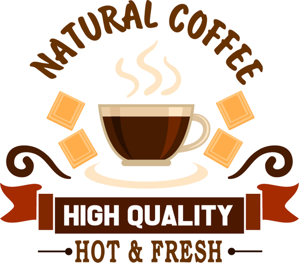 natural coffee labels vector design 03