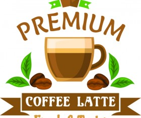 natural coffee labels vector design 05