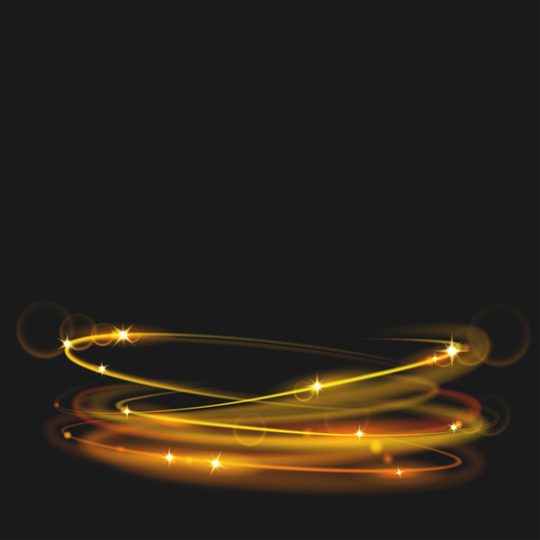 neon rings effects illustration vector 01