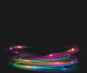neon rings effects illustration vector 02