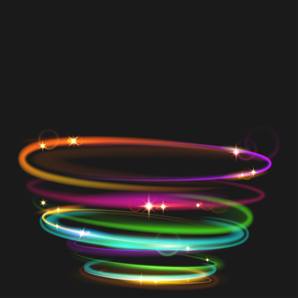 circles transparent fire photo vector background neon effect magic light lines on stock crossed rings glow the