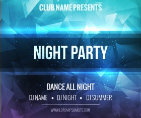 night party flyer template vector material 02