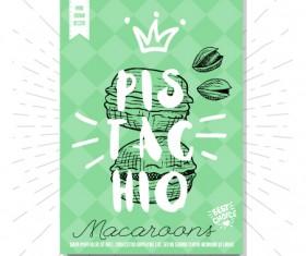 pistachio poster template vector