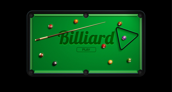 pool table with billiard vector material 01