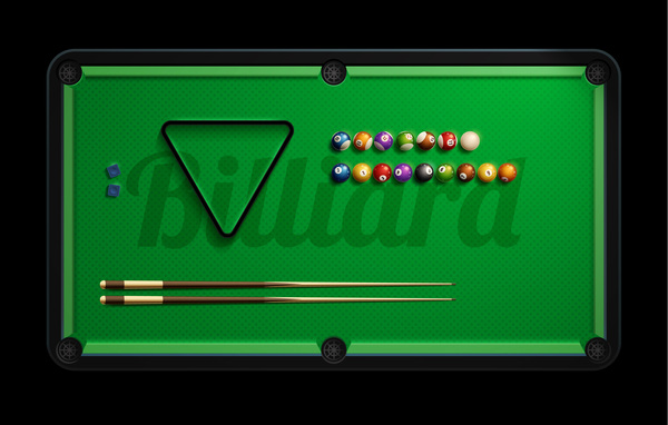 pool table with billiard vector material 02