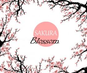 sakura blosson banner vector background 01