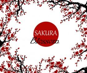 sakura blosson banner vector background 03