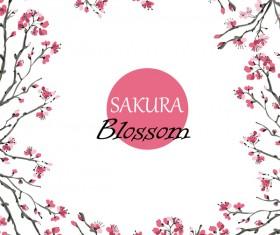 sakura blosson banner vector background 04