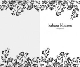 sakura blosson banner vector background 05