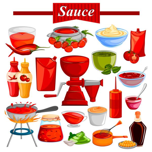 sauce vector design