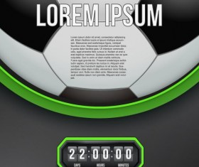 soccer background with timer design vector