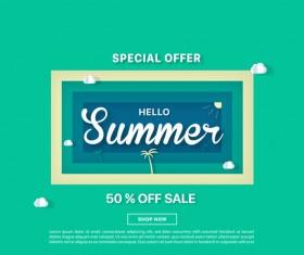 special offer summer sale background vector 03