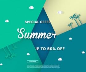 special offer summer sale background vector 04