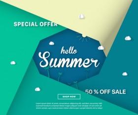 special offer summer sale background vector 05