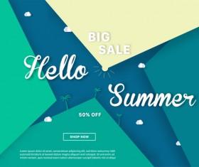special offer summer sale background vector 06